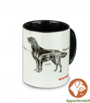 Tasse mit Flat Coated Retriever Motiv