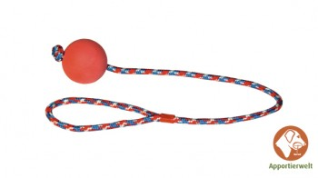 Wurfball am Seil 60 cm - Ballfarbe Rot
