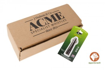 ACME Hundepfeife 210 1/2 schokobraun inklusive Pfeifenband