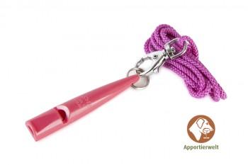 ACME Hundepfeife 211 1/2 fuchsia inklusive Pfeifenband