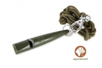 ACME Hundepfeife 211 1/2 olive inklusive Pfeifenband