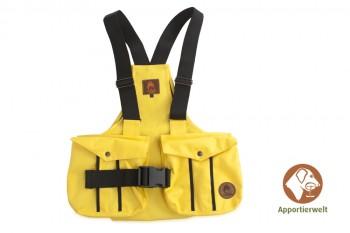 Firedog Dummyweste Trainer gelb mit Plastik-Klickverschluss