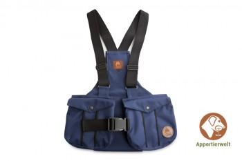 Firedog Dummyweste Trainer marineblau mit Plastik-Klickverschluss