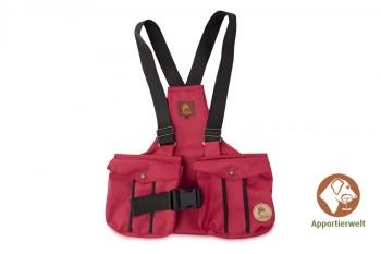 Firedog Dummyweste Trainer rot mit Plastik-Klickverschluss