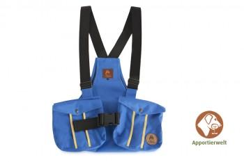 Firedog Dummyweste Trainer blau mit Plastik-Klickverschluss