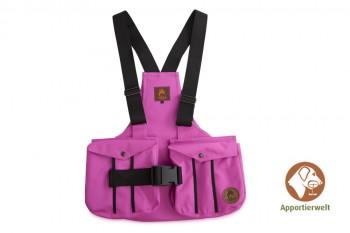 Firedog Dummyweste Trainer pink mit Plastik-Klickverschluss