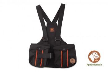 Firedog Dummyweste Trainer schwarz mit Plastik-Klickverschluss