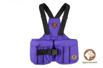 Firedog Dummyweste Trainer violett mit Plastik-Klickverschluss