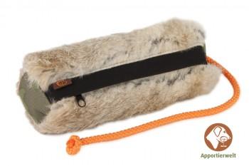 Firedog Futterdummy groß mit Kaninchenfell