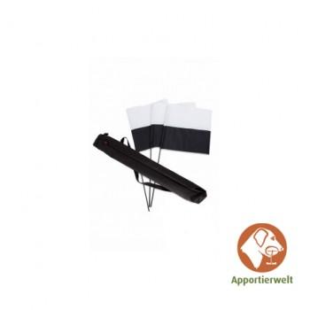 Firedog Markierungsfahnen-Set Marking Flag schwarz/weiß 3 Stk.