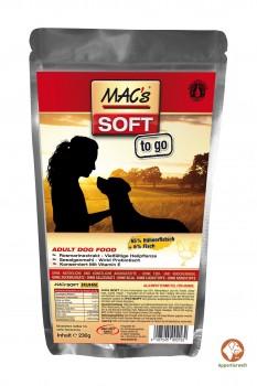 MAC´s SOFT to go- Huhn-Lachs- getreidefreie Leckerlies 230 g