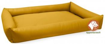 pflegeleichtes Hundebett aus Kunstleder Farbe Gelb
