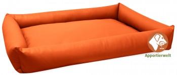 pflegeleichtes Hundebett aus Kunstleder Farbe Orange