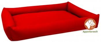 pflegeleichtes Hundebett aus Kunstleder Farbe Rot