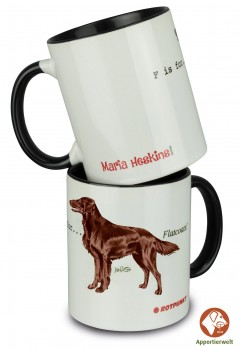 Tasse mit Flat Coated Retriever Farbe Braun Motiv