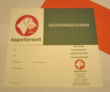 Apportierwelt - Geschenkgutschein ab 5,- EUR