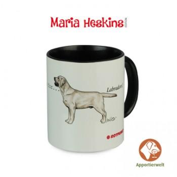 Tasse mit Labrador Retriever Farbe Gelb Motiv