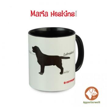 Tasse mit Labrador Retriever Farbe Schwarz Motiv