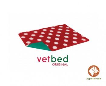Vetbed® Original Rot mit weißen Punkten 100 x 150 cm