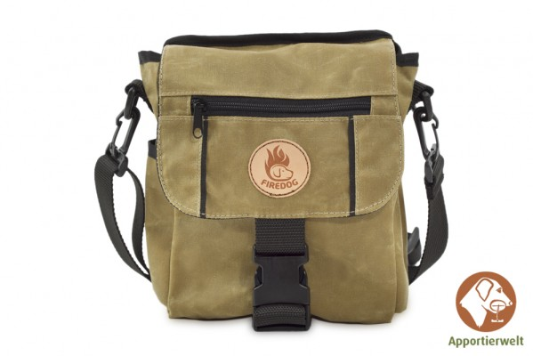 Firedog Mini Dummytasche DeLuxe Waxed cotton khaki hell