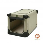 Maelson Soft Kennel faltbare Hundebox 52 Farbe beige Größe XXS
