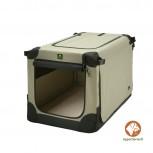 Maelson Soft Kennel faltbare Hundebox 82 Farbe beige Größe M