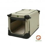 Maelson Soft Kennel faltbare Hundebox 92 Farbe beige Größe L