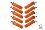Firedog 10-er Set Standard Dummy 500 g orange nummeriert 1-10
