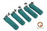 Firedog 5-er Set Standard Dummy 500 g grün nummeriert 1-5